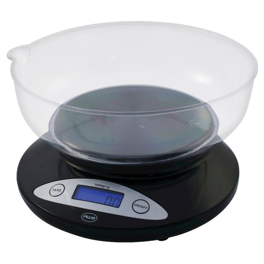 American Weigh Aws Large 2 Liter Kitchen Bowl Scale, Black