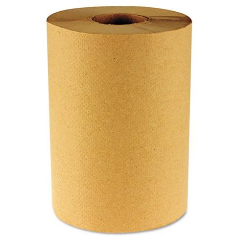 Boardwalk Hardwound Brown Paper Towels - 6 Rolls / 800ft - image 1 of 1