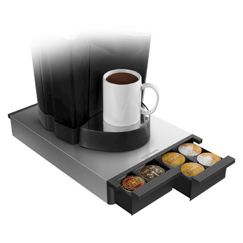 Mind Reader 28 Capacity Metal Coffee Pod Drawer - Silver - image 1 of 2