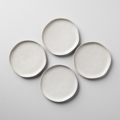 4pk Stoneware Salad Plate Cream - Hearth & Hand™ with Magnolia
