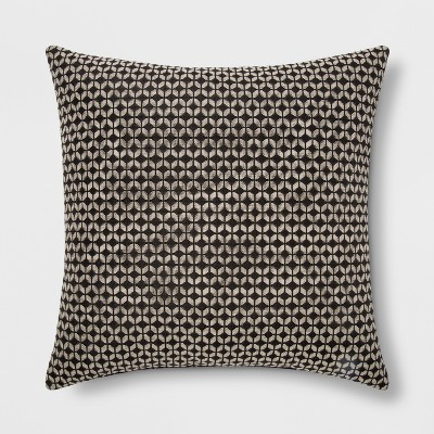 Woven Geo Square Throw Pillow Black/Neutral - Project 62™