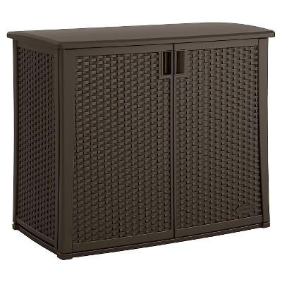 Elementsª Resin Outdoor Cabinet - Brown - Suncast