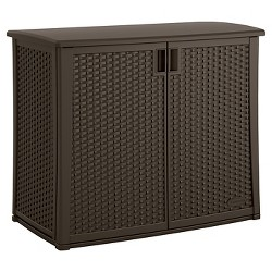 Elements Resin Outdoor Cabinet - Brown - Suncast