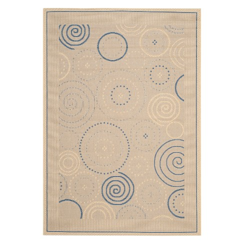 "Leon Patio Rectangle 2' X 3'7"" Rug - Natural / Brown - Safavieh® - image 1 of 2"