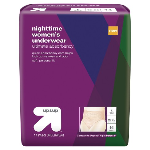 Nighttime Incontinence Underwear for Women - Large - 14ct - Up&Up™ - image 1 of 1