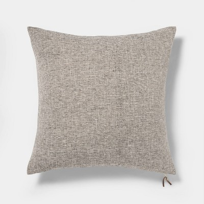 Oversized Square Woven Pillow with Exposed Zipper Gray - Project 62™