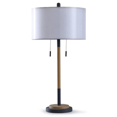 Lari Dual Finish Table Lamp with Drum Shade Black - StyleCraft