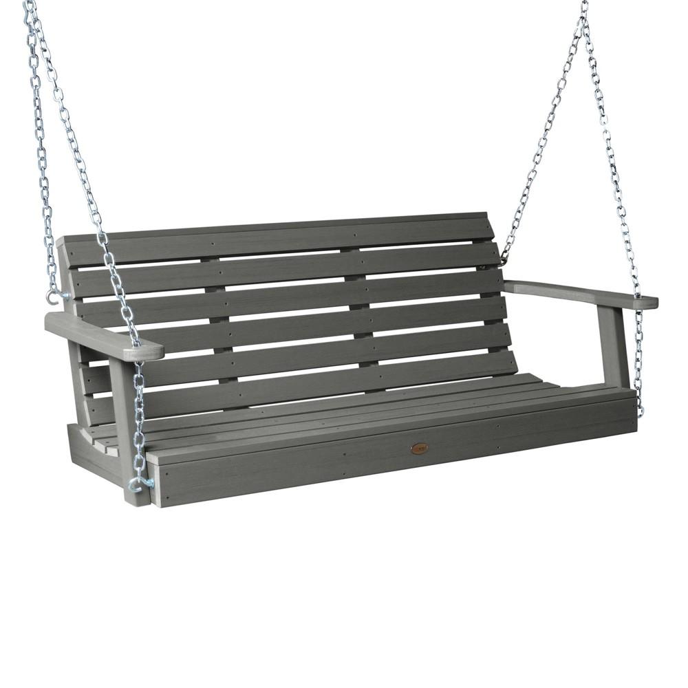 Weatherly Porch Swing 4ft Coastal Teak Gray- Highwood, Coastal Teak Gray