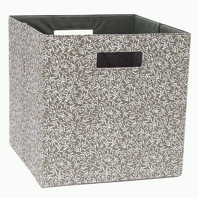 13  Cube Storage Bin Botanical Charcoal - Threshold™