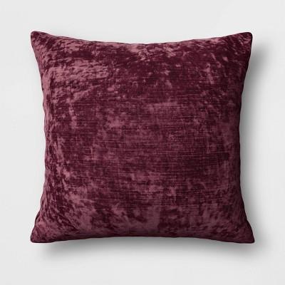 Oversized Velvet Square Throw Pillow Burgundy - Threshold™