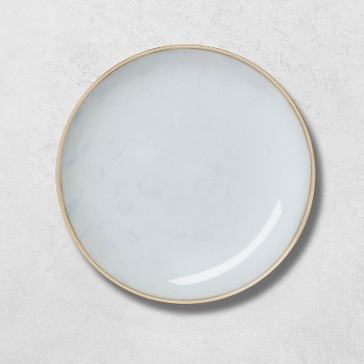 Stoneware Reactive Exposed Rim Dinner Plate Blue - Hearth & Hand™ with Magnolia