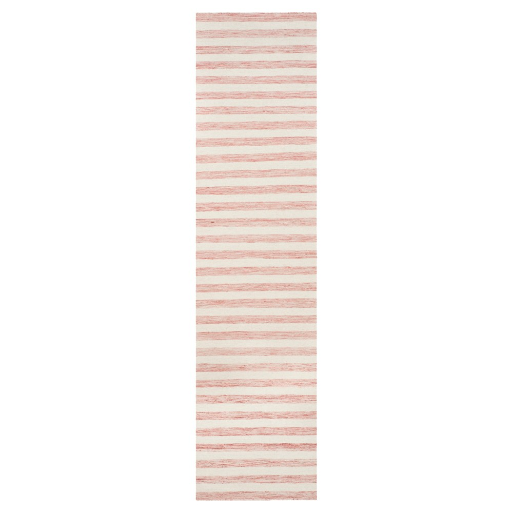 Roland Dhurrie Accent Rug - Rust / Ivory (2'6 X 10') - Safavieh, Red/Ivory