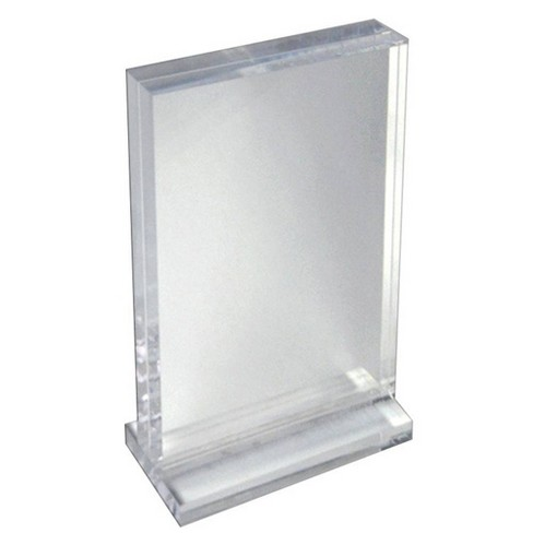 "Azar Displays 8.5"" X 5.5"" Deluxe Horizontal Acrylic Block Stand - image 1 of 1"