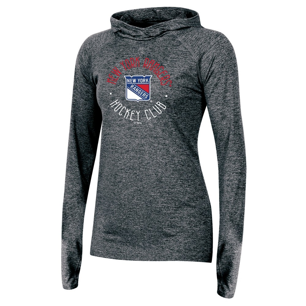 New York Rangers Women's For the Win Gray Performance Hoodie L, Multicolored