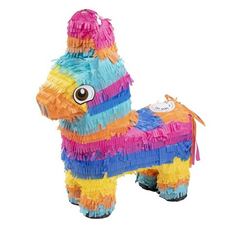 Small Donkey Pinata, Fiesta, Cinco de Mayo, Birthday Party Supplies, 12.5 x 15.7 x 4.7 inches - image 1 of 4