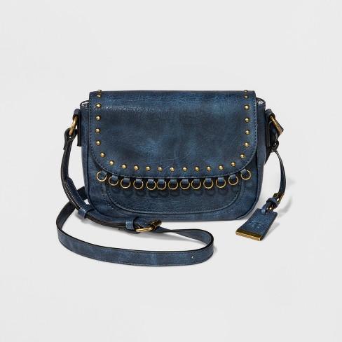 BORSANI Eva Crossbody Bag - Blue   Target 47ba6b6debba4