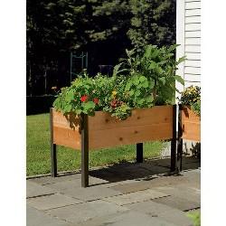 "Gardener's Supply Co. 2 Ft x 4 Ft Raised Garden Bed Elevated Cedar Planter Box (24"" x 48"") Standing Garden - Gardener's Supply Company"