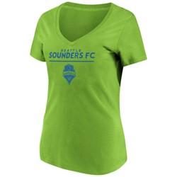 MLS Women's Short Sleeve V-Neck T-Shirt Seattle Sounders