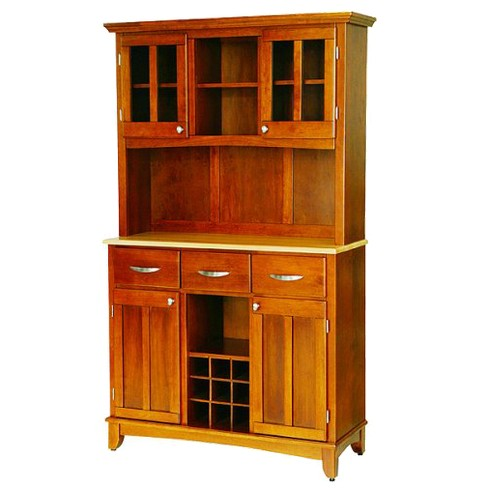 Astounding Wine Rack Buffet With 2 Door Hutch Wood Oak Natural Home Styles Download Free Architecture Designs Scobabritishbridgeorg