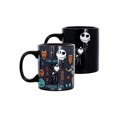 Seven20 Nightmare Before Christmas Heat Reveal King Jack 11oz Ceramic Coffee Mug