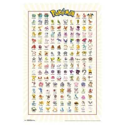 Pokemon Kanto Grid Poster 34x22 - Trends International