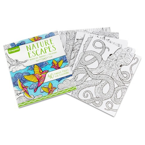 Crayola® Adult Coloring Book - Nature Escapes : Target