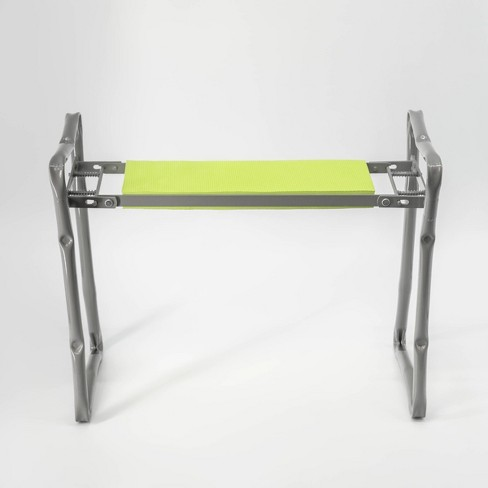 Incredible 24 Stainless Steel Foldable Garden Bench Kneeler Bloom Machost Co Dining Chair Design Ideas Machostcouk