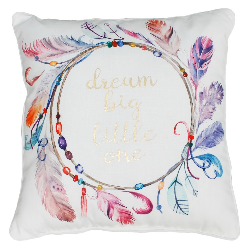 Watercolor Printed Square Throw Pillow - Decor Therapy, Multi-Colored