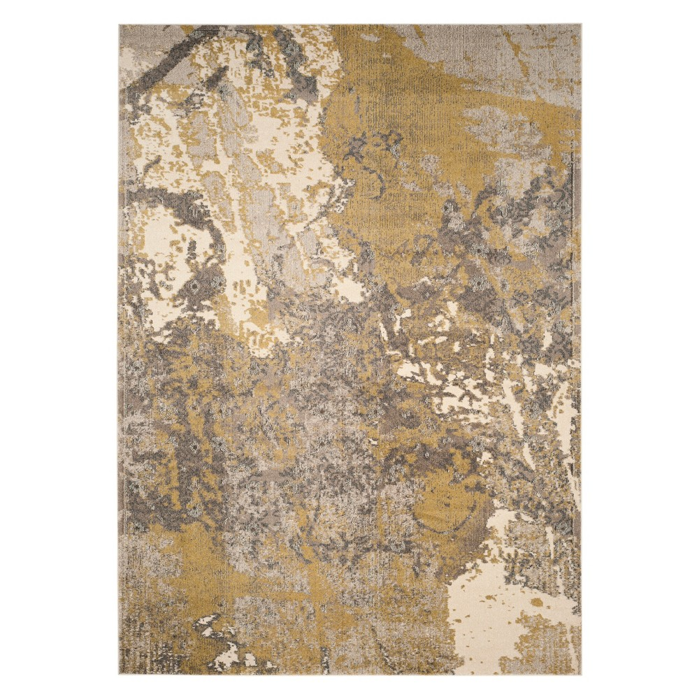 9'X12' Marble Area Rug Ivory/Gray - Safavieh, White