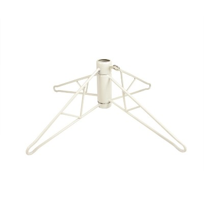 Northlight White Metal Christmas Tree Stand for 4.5' Artificial Trees