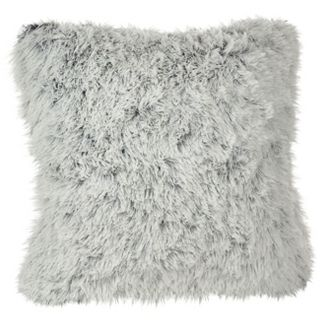 "White Juneau Two-Tone Faux Fur Throw Pillow (18"") - Saro Lifestyle"