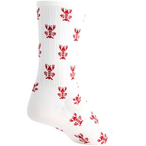 SockGuy SGX Rock Lobster Socks - 6 inch, White/Red, Large/X-Large - image 1 of 1