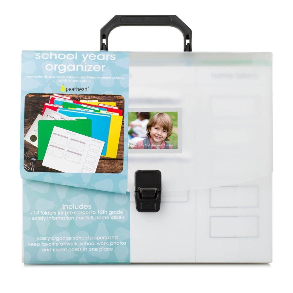 "Image of ""Pearhead School Years File Keeper, Briefcase Document Organizer 9.25 X 12.85"""""""