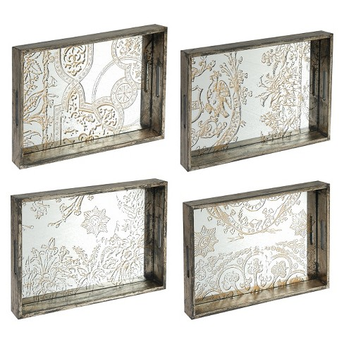 Decorative Trays - Set of 4 - A&B Home - image 1 of 2