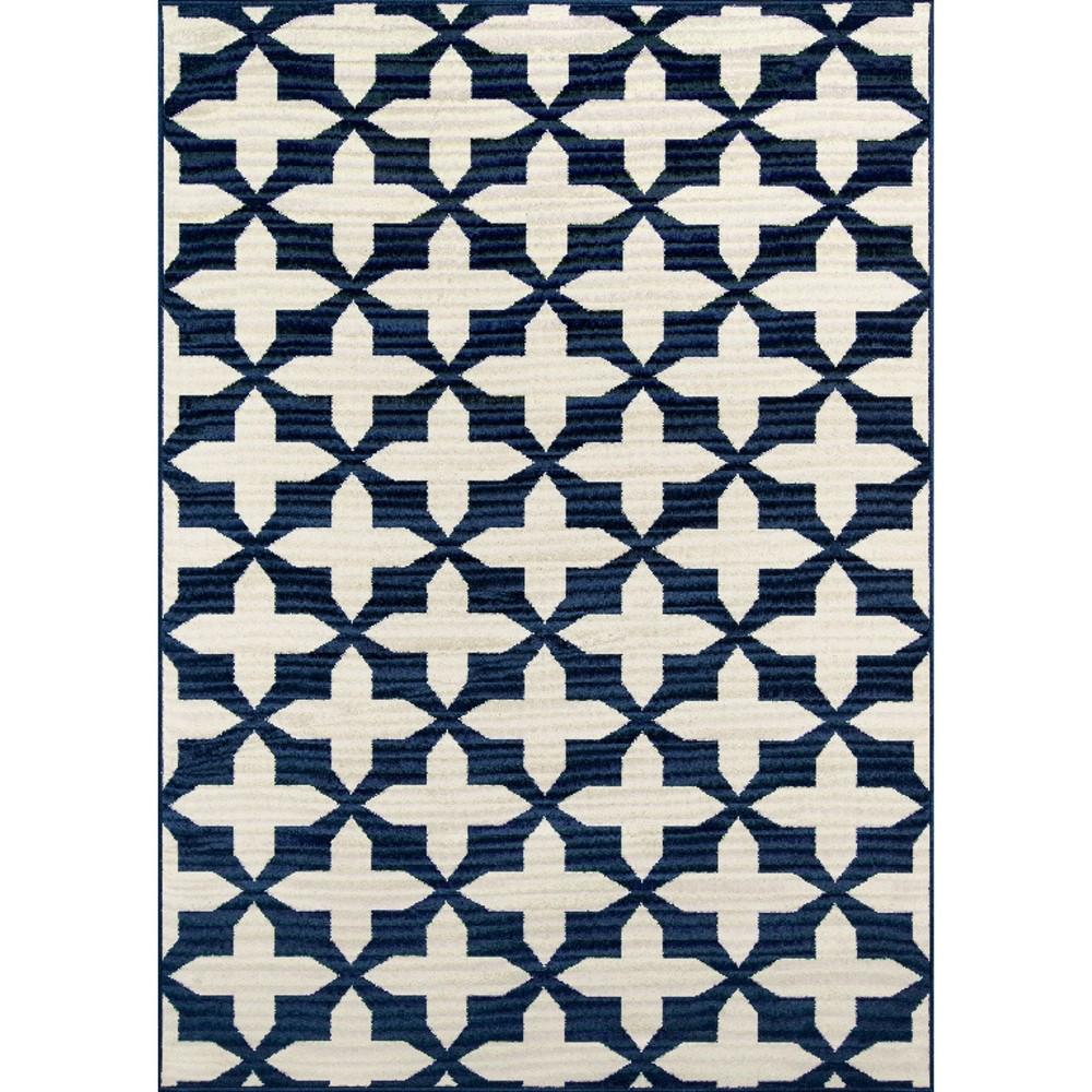 Indoor/Outdoor Venetian Area Rug - Navy (Blue) (6'7