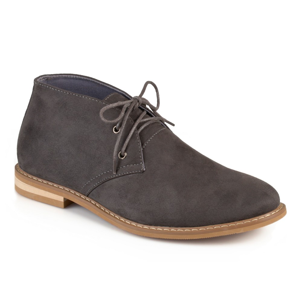 Men's Vance Co. Manson Lace-up Faux Suede High Top Chukka Boots - Gray 8