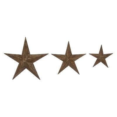 Set of 3  Metal Wall Star - Olivia & May