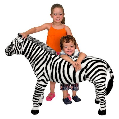 Melissa & Doug Giant Striped Zebra - Lifelike Stuffed Animal (nearly 3 feet tall)