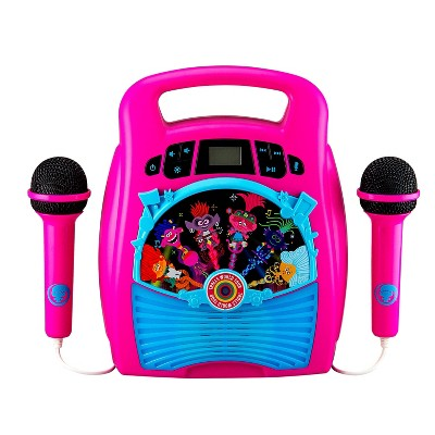 Trolls World Tour 2-Mic Bluetooth MP3 Karaoke With Light Show
