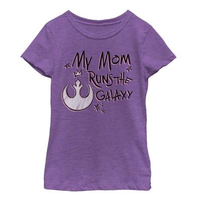 Girl's Star Wars Mother's Day Mom Runs Galaxy T-Shirt