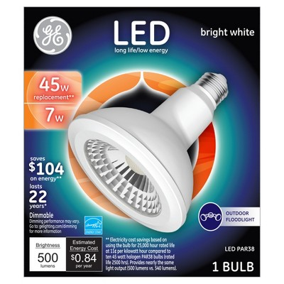 General Electric LED 45w PAR38 Outdoor Floodlight Light Bulb Bright White