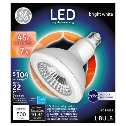Ge Led 45watt Par38 Outdoor Floodlight Light Bulb Bright White