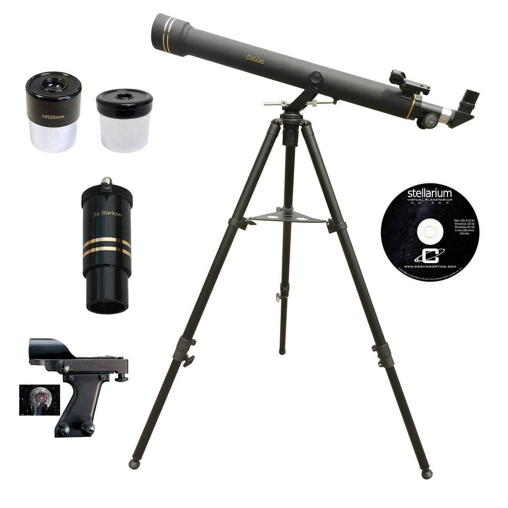 Image of Galileo 800mm x 72mm Astronomical and Terrestrial/Land Telescope Kit - Black