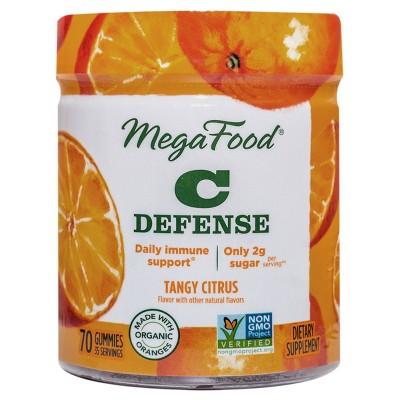 MegaFood Vitamin C Defense Vegan Gummies - Tangy Citrus - 70ct