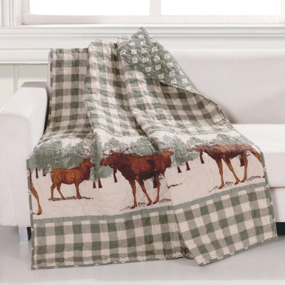"Greenland Home Fashion Moose Creek Buffalo Perfect Accessory Throw Blanket - 50""x60"" in Multicolor"