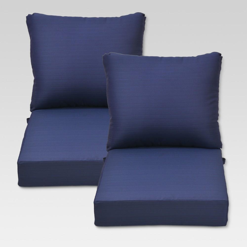 Ft. Walton 4pc Outdoor Deep Seating Chair Back/Seat Cushion Set - Navy (Blue) - Threshold