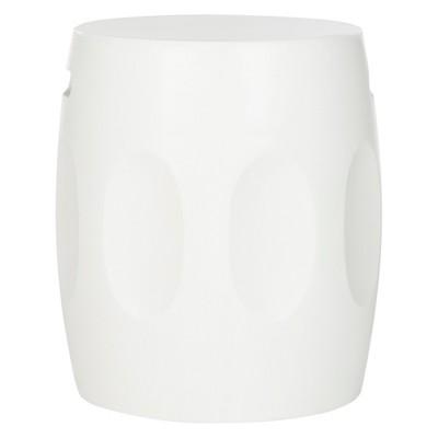 Zuri Round Concrete Accent Table - Ivory - Safavieh