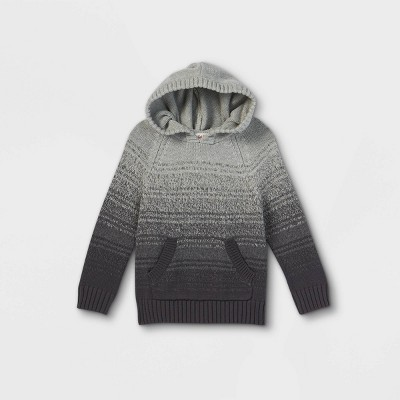 Toddler Boys' Knit Hoodie Pullover Sweater - Cat & Jack™ Gray