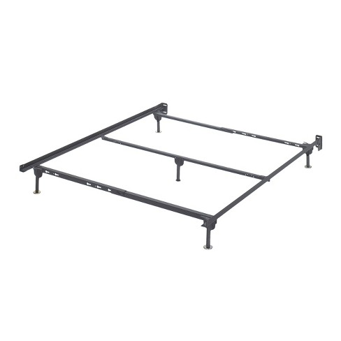Frames And Rails Bolt On Bed Frame Metallic Queen