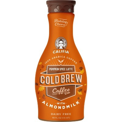 Califia Farms Dairy-Free Pumpkin Spice Latte Cold Brew Coffee with Almondmilk - 48 fl oz